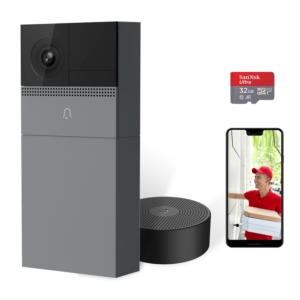 Crowd Security Rechargeable Battery Wifi 1080p Video Doorbell with Wireless Jingle & SD card